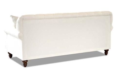 "Hubert ""Custom Value"" 81 Inch Tufted Fabric Sofa With Decorative Nailhead Trim"