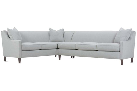 "Jade ""Designer Style"" Transitional Slope Arm With Tight Back Fabric Sectional"