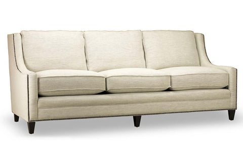 "Janet 88 Inch ""Quick Ship"" Slope Arm Pillow Back Fabric Sofa (Out Of Stock Until 8/31)"