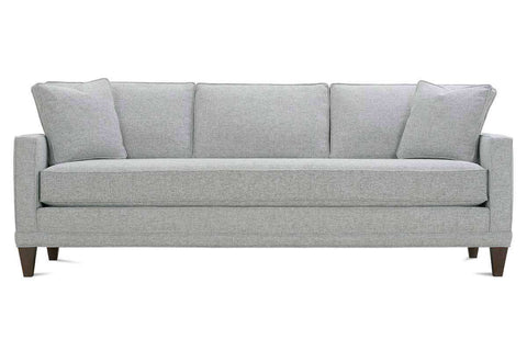 "Janice I 83 Inch ""Designer Style"" Contemporary Apartment Size Single Bench Seat Fabric Upholstered Sofa"