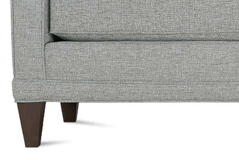 "Janice I 89 Inch ""Designer Style"" Contemporary Single Bench Seat Fabric Upholstered Sofa"