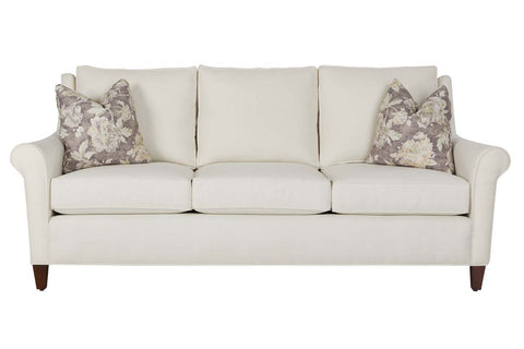 Josie 86 Inch Fabric Rolled Arm Transitional Sofa