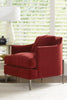 "Image of Joy ""Designer Style"" Fabric Chair With Burnished Steel Metal Frame"