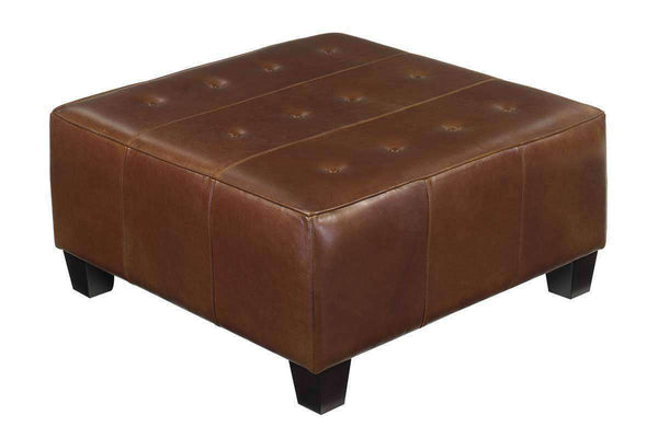 Ottomans & Benches Kelsey Apartment Size Square Leather Cocktail Ottoman Table