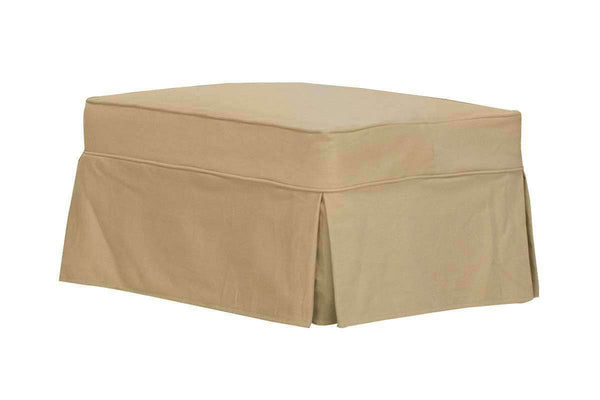 "Slipcovered Furniture Kendall ""Grand Scale"" Slipcover Ottoman"