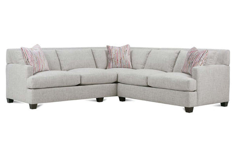 "Krista ""Designer Style"" Track Arm Fabric Sectional"
