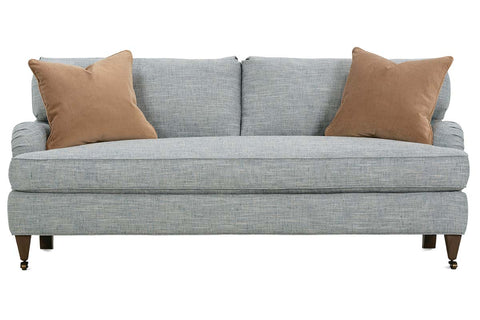 Kristen I 78 Inch English Arm Fabric Single Bench Cushion Apartment Size Sofa