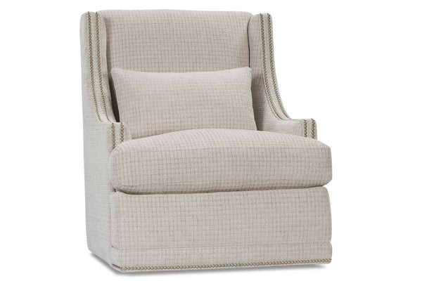 "Lacey ""Designer Style"" Fabric Upholstered Swivel Accent Chair"