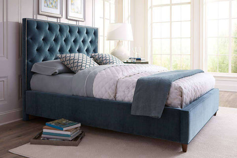 "Lafayette ""Designer Style"" Upholstered Tufted Panel Bed"