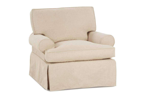 Slipcovered Furniture Laura 360 Degree Swivel Slipcover Chair