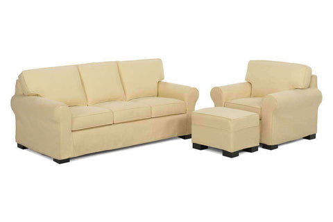 Slipcovered Furniture Lauren Slipcover Queen Sleeper Sofa Set