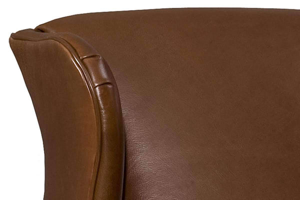 Leather Accent Chairs And Chaise Amherst Leather Tight Back Accent Chair With Wings