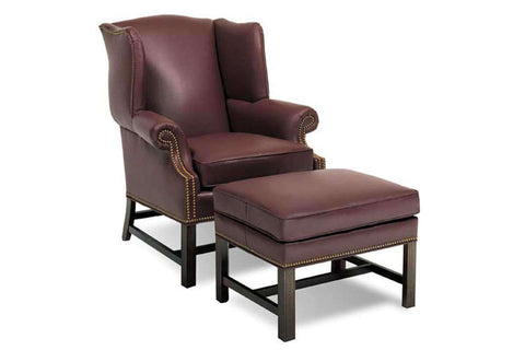 Leather Accent Chairs And Chaise Chippendale Style Leather Accent Arm Chair