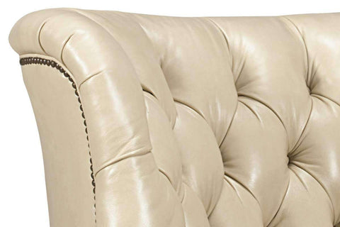 "Leather Accent Chairs And Chaise Cullen ""Designer Style"" Tufted Leather Accent Chair"