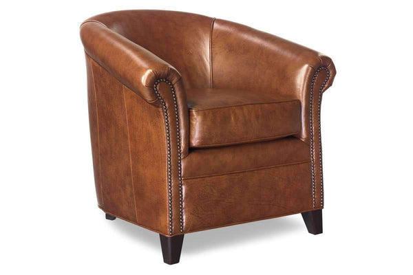 Leather Accent Chairs And Chaise Gardner Tub Style Leather Accent Chair With Nail Trim