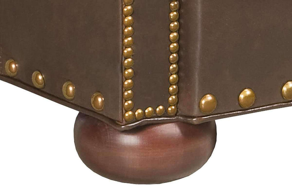 Leather Accent Chairs Metal Legs Caramel.Hadley Button Tufted Leather Chesterfield Club Chair