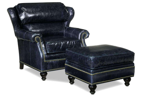 Leather Accent Chairs And Chaise James Leather Wing Bustle Back Accent Arm Chair