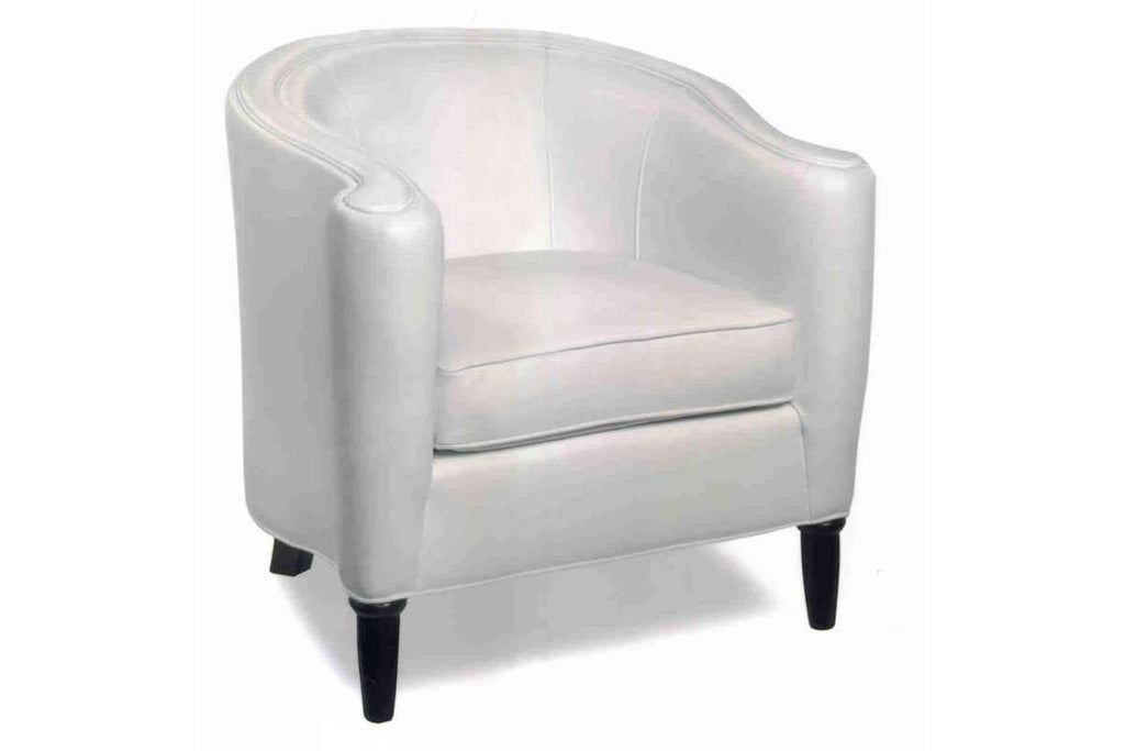 Romana Contemporary Leather Tub Accent Chair