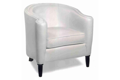 Leather Accent Chairs And Chaise Romana Contemporary Leather Tub Accent Chair