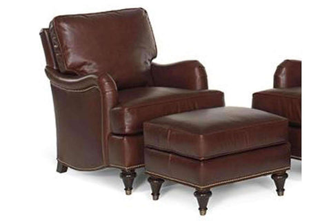 Leather Accent Chairs And Chaise Wesley English Arm Leather Accent Arm Chair With Nailhead Trim