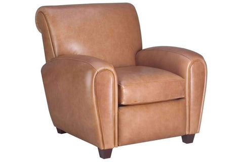 "Leather Furniture Baxter ""Designer Style"" French Art Deco Style Leather Recliner"