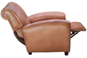 Baxter Leather Rolled Back Reclining Cigar Arm Chair