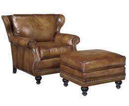 Leather Furniture Bellamy Leather Wingback Club Chair