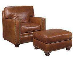 "Leather Furniture Bowman ""Designer Style"" Leather Club Chair"