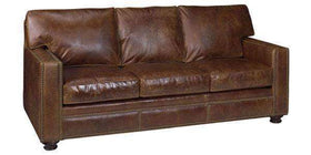 "Leather Furniture Bowman ""Designer Style"" Small Track Arm Sofa"