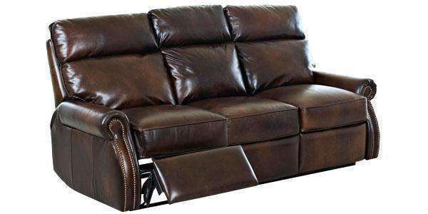 Leather Furniture Brunswick Dual Power Assist Leather Recliner Sofa