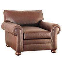 Leather Furniture Carrigan Grand Scale Leather Club Chair With Bunn Style Legs