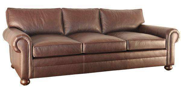Leather Furniture Carrigan Multi-Size Custom Deep Seat Leather Sofa