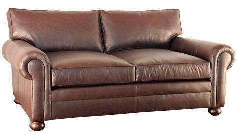 Leather Furniture Carrigan Two Seat Leather Pillowback Loveseat With Deep Seats