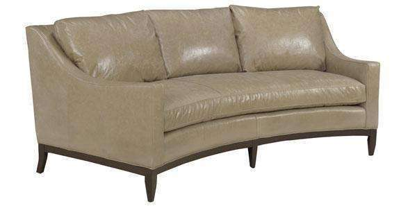 Cedric Contemporary Leather Conversation Sofa