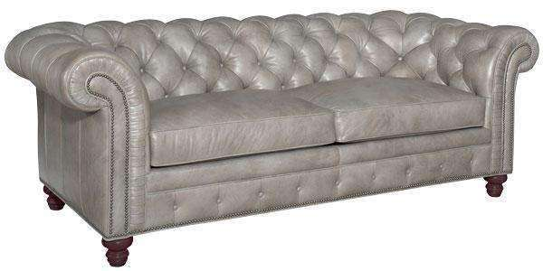 Colburn Designer Style Chesterfield Tufted Leather Queen Sleeper Sofa