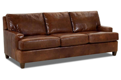 Leather Furniture Dempsey Contemporary Leather Queen Sleep Sofa