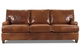 Dempsey 89 Inch Urban Three Seat Leather Sofa