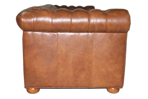 Leather Furniture Empire 86 Inch Two Seat Chesterfield Leather Sofa