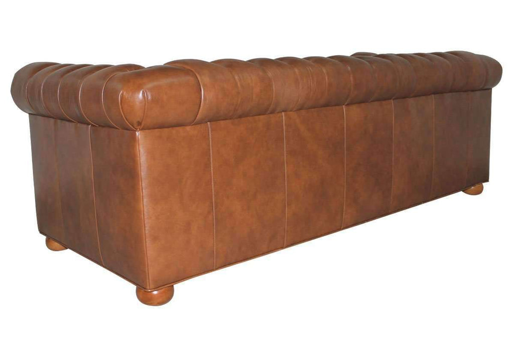 Empire Chesterfield 78 Inch Full Studio Leather Sleeper Sofa