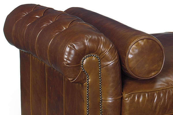 Leather Furniture Frazier 78 Inch Tufted Leather Chesterfield Daybed