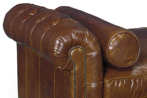 Leather Furniture Frazier 94 Inch Chesterfield Leather Day Bed With Bench Seat