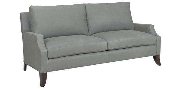 Leather Furniture Freeman Small Leather Contemporary Sofa