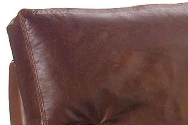 Leather Furniture Harrison Contemporary 87 Inch Grand Scale Deep Seat Leather Sofa