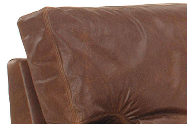 Leather Furniture Harrison Contemporary Pillow Back Leather Club Chair