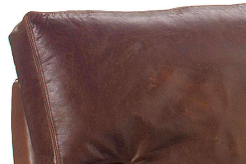 Leather Furniture Harrison Grand Scale Oversized Contemporary Leather Loveseat