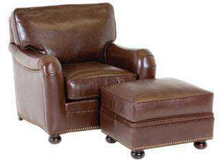 "Leather Furniture Howell ""Designer Style"" English Arm Leather Chair"