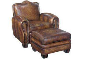 Leather Furniture Jonathan Parisian Camelback Leather Club Chair