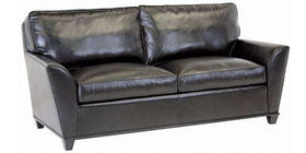 "Leather Furniture Lance ""Designer Style"" Contemporary Wing Arm Leather Apartment Sofa"