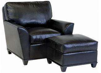 "Leather Furniture Lance ""Designer Style"" Contemporary Wing Arm Leather Chair"