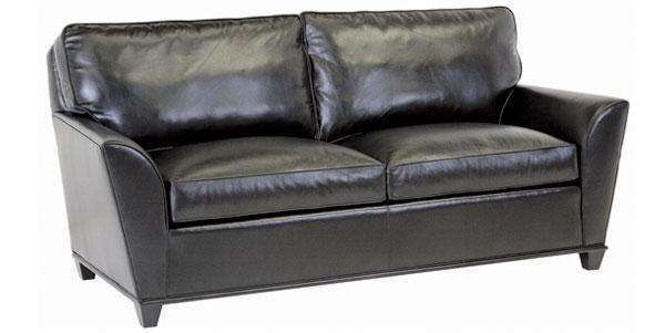 "Leather Furniture Lance ""Designer Style"" Contemporary Wing Arm Leather Sofa"